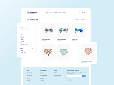 Bubbles Choice - Product Page minimal branding sorting ecommerce dog ux ui cute figma website productdesign website design uiux