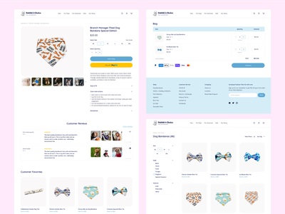 Bubbles Choice - Product & Cart Page dog petshop branding ux cute productdesign ui uiux figma website cart product page ecommerce