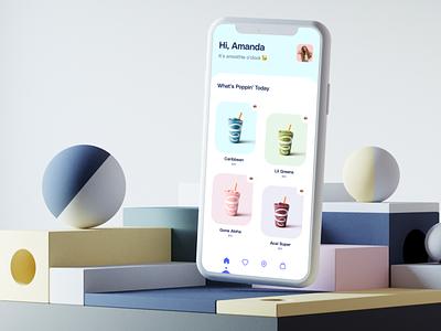 Order Smoothie mobile food app figma 3d smoothie uidesign productdesign uiux app design