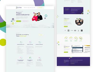 Limes - Home website web design ux ui