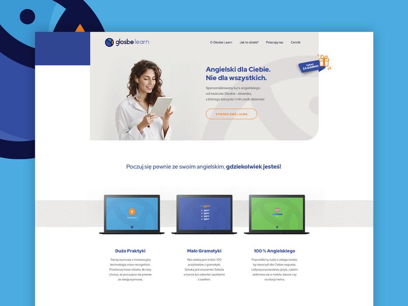 Glosbe Learn - Landing Page landing page web design website design ux ui