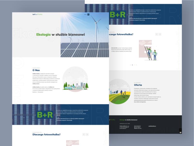 SoftBlue Mobility green eco creative web design ux ui design