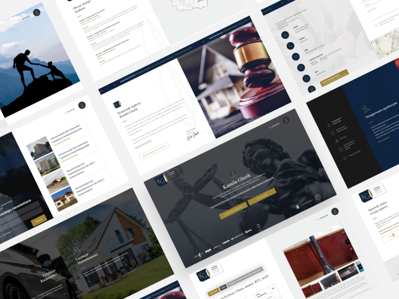 Kamila Glazik graphics design creative web design ux ui
