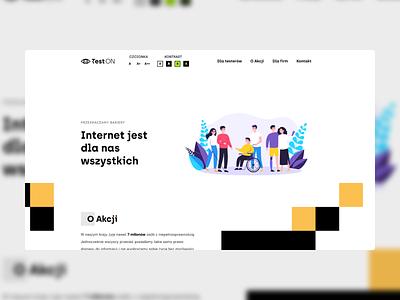 TestOn creative website web design ux ui accessibility