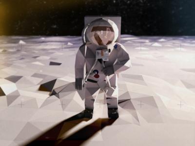 Buzz Aldrin Low Poly
