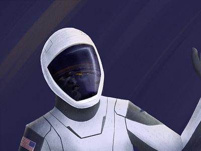 Space X Astronaut space astronaut illustration procreate space x