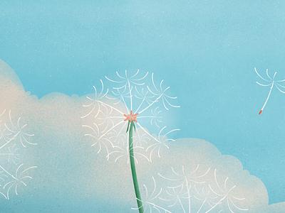 Dandelion Style test seed cloud sky illustrator photoshop nature plant dandelion