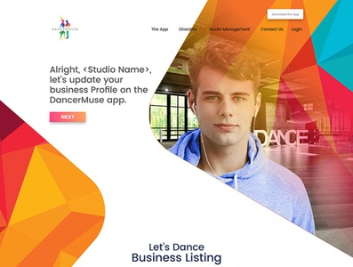 DancerMuse Directory Business Listing Page Design branding illustration website web ui ux design