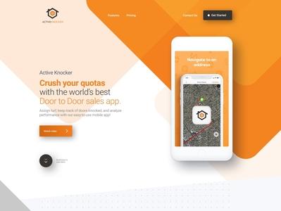 ActiveKnocker Website Home Page branding website web ux ui design