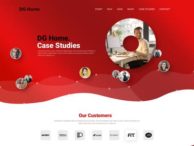 DG Home Web Design UI/UX branding website web ux ui design