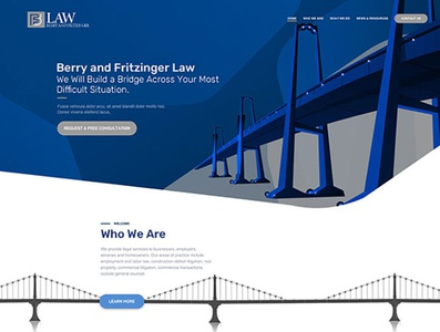 Berry and Fritzinger Home Page Design illustration branding website web ux ui design