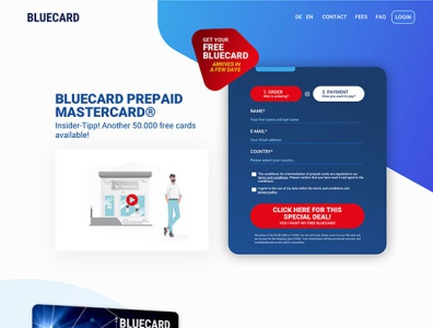 Blue Card Website Design illustration branding website web ux ui design