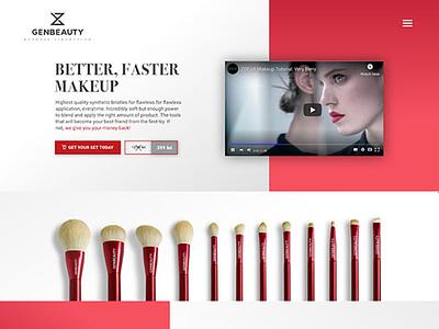 Genbeauty Sales Funnel Website Design branding website web ux ui design