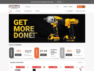 Hills Flat Lumber Home Page Design branding website web ui ux design