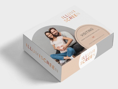Illumiscreen Box Design Mockup package design branding design