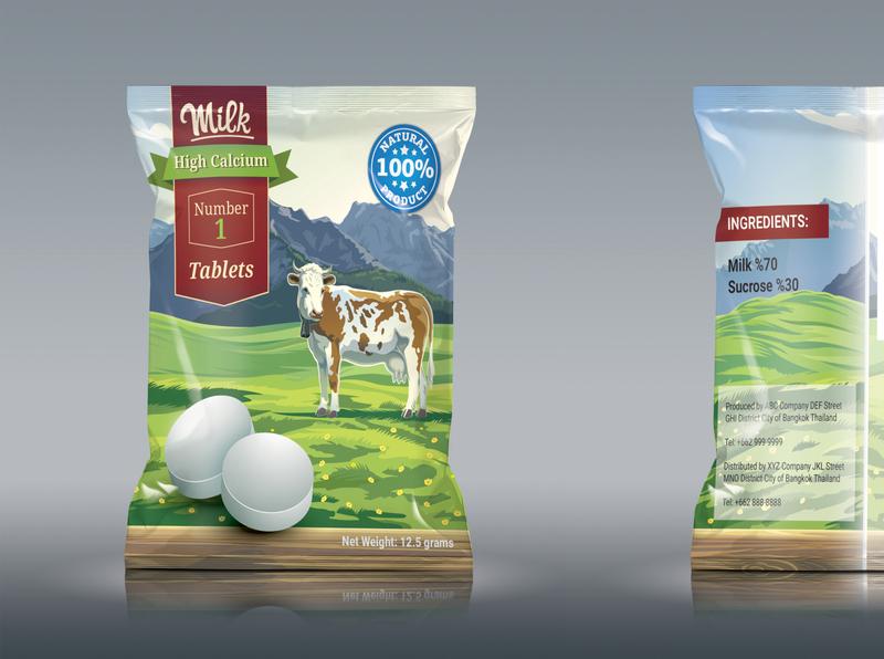 Number 1 Sachet  Mockup packaging design branding design