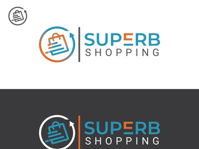 Superb Shopping logo branding design