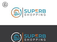 Superb Shopping logo branding design