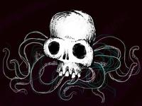 Octopus Spider Skull Illustration