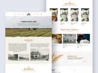 Herritage - Product Landing Page vintage minimal clean interface userinterface landingpage web ux ui product herritage