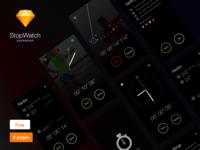 StopWatch - Free UI KIT