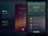 Vero Unfollowers - App Interface