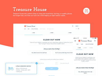 TreasureHouse - Declutter Page design dashboard daily concept interface interaction ux ui clothes buy checkout shop