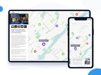 Mapme - Map Builder flat design clean minimal ios interface app route maps ux ui