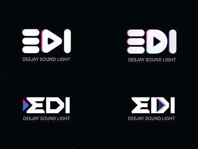 DeeJay design deejay typography branding vector illustration minimal logo