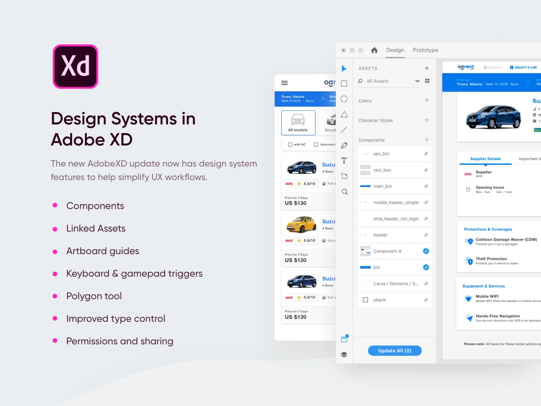 Adobe XD Design System by Dorjan Vulaj on Dribbble