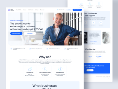 HelloLanding - Landing Page Business Loan