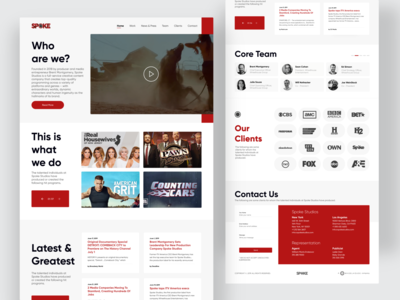 Creative Content Company - Spoke Studios team clients contact news movie landingpage spokestudios minimal clean userinterface design interface interaction ux ui agency