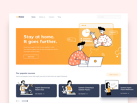 Free Course Dribbble shot support online learning uiux graphicdesign stayhome covid19 colorful gradient adobexd uidesign illustration trendy minimal interface design ui course