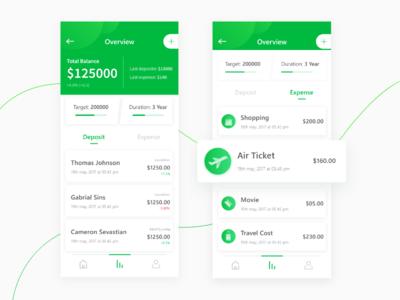 Deposit iOS App Concept