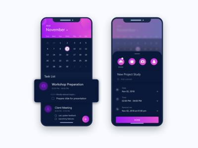 Task manage app concept