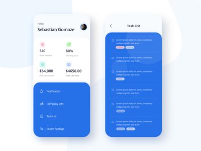 Invoice generator app UI