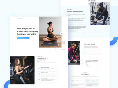 Weight loss and diet plan management website exercises ux 2020 trend trendy weightloss 2020 minimal uidesign interface design ui