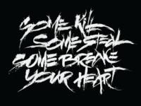 Xxxtentacion`s song lines Calligraphy