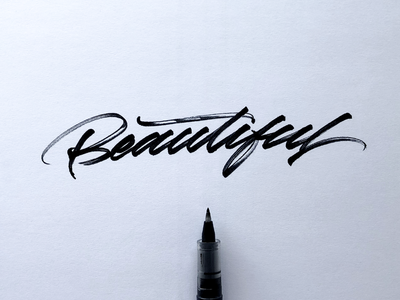 You are so... project behance beautiful brushpen brush graphic deisgn hand writting design inspiration logotype logo typo typography handmade font hand lettering lettering calligraphy