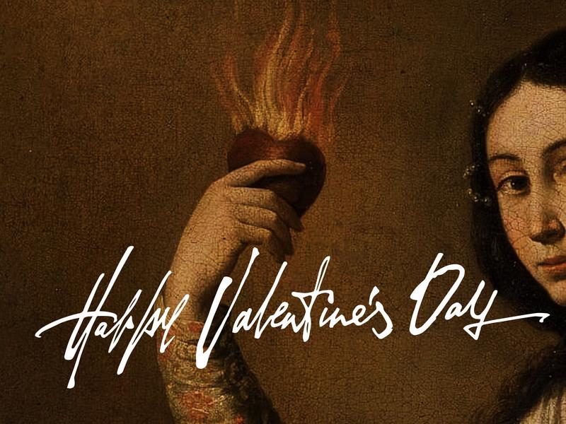 Happy Valentine's Day! broken heart heart atmosphere happy valentines day valentine day valentine handwritting inspiration logotype hand writting typo typography logo hand lettering handmade font lettering calligraphy
