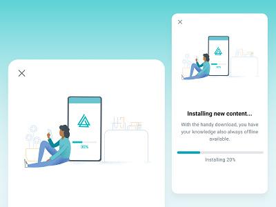 Mobile - update content update illustration mobile