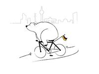 Bear by bike