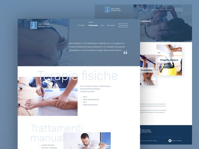 Physiotherapy Landing page uiux ui web design