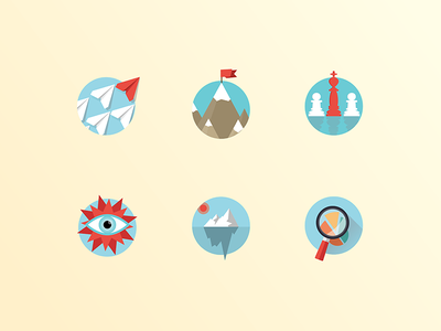 Icons transparency leadership concept illustrator icons