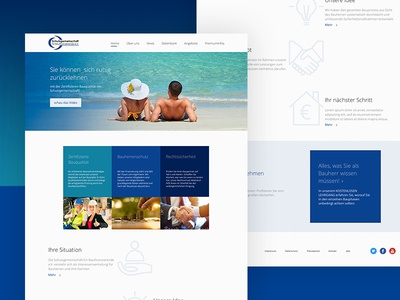 Finance - startpage build insurance blue finance