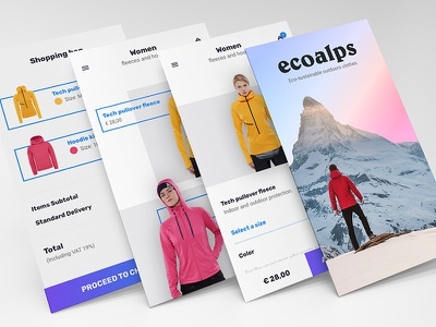 ecoalps - eCommerce app product view cart mobile app ecommerce
