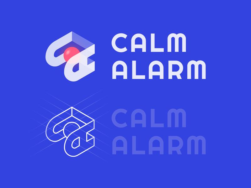 Logo Calmalarm brand illustraion web design logo