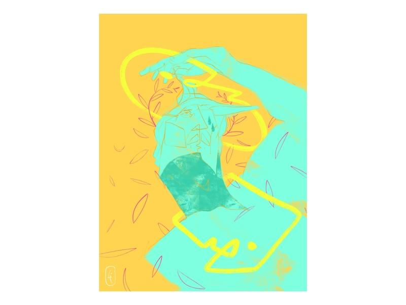 God Looking Out poster art designer dribbble drawing design graphic illustration