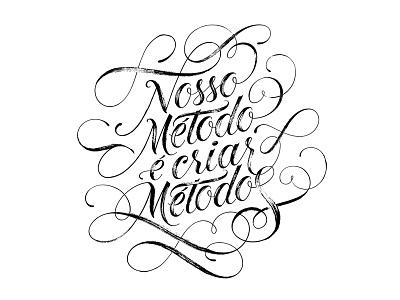 Sistema DEZ Lettering script brush swashes typography type lettering