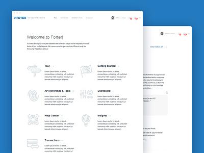 Developer Hub UI webdesign user ui interface frontend design